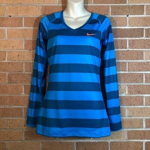Nike Pro Womens Shirt size Small Blue
